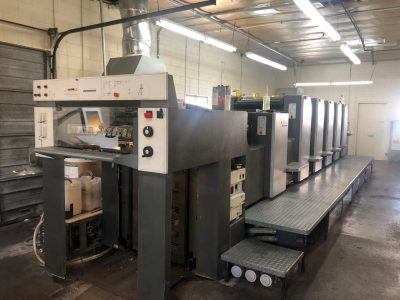 2001 Heidelberg SpeedMaster 74 5H+L Five Color Offset Printing Machine